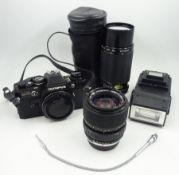 Olympus OM-10 SLR Camera with Olympus neck strap