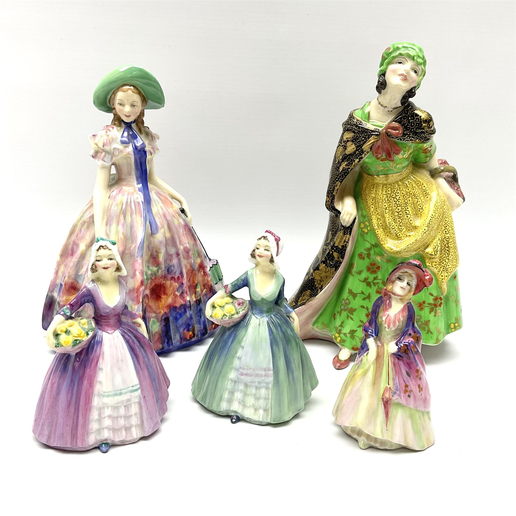 A group of Royal Doulton figures
