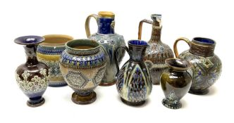 A collection of Doulton Lambeth