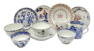 Group of 18th and early 19th century tea wares