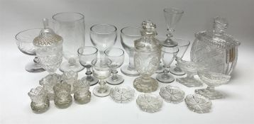 A group of 19th century and later glassware