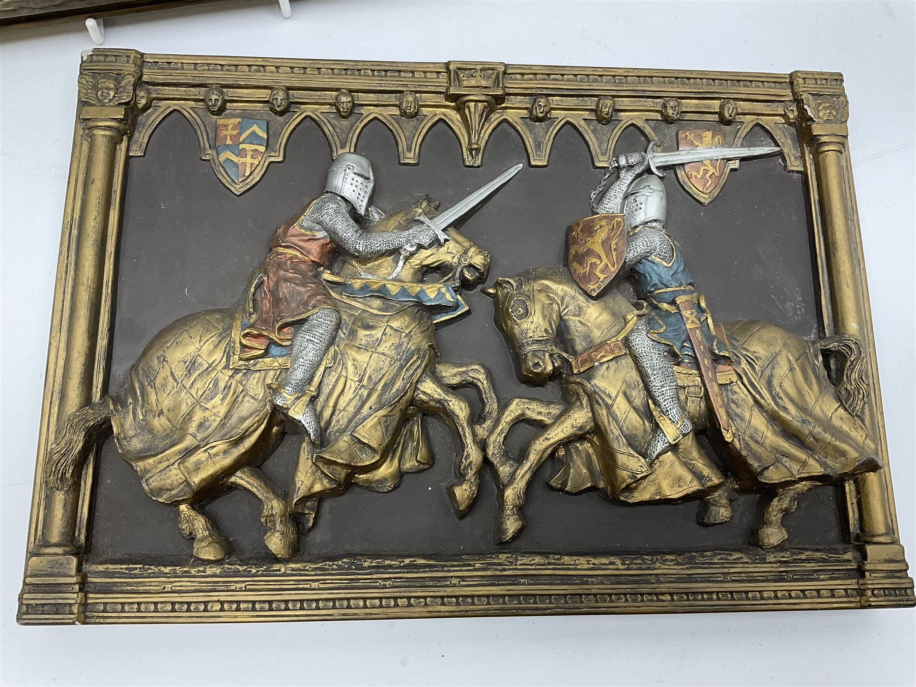 Two ceramic painted wall plaques by Marcus design - Image 3 of 3
