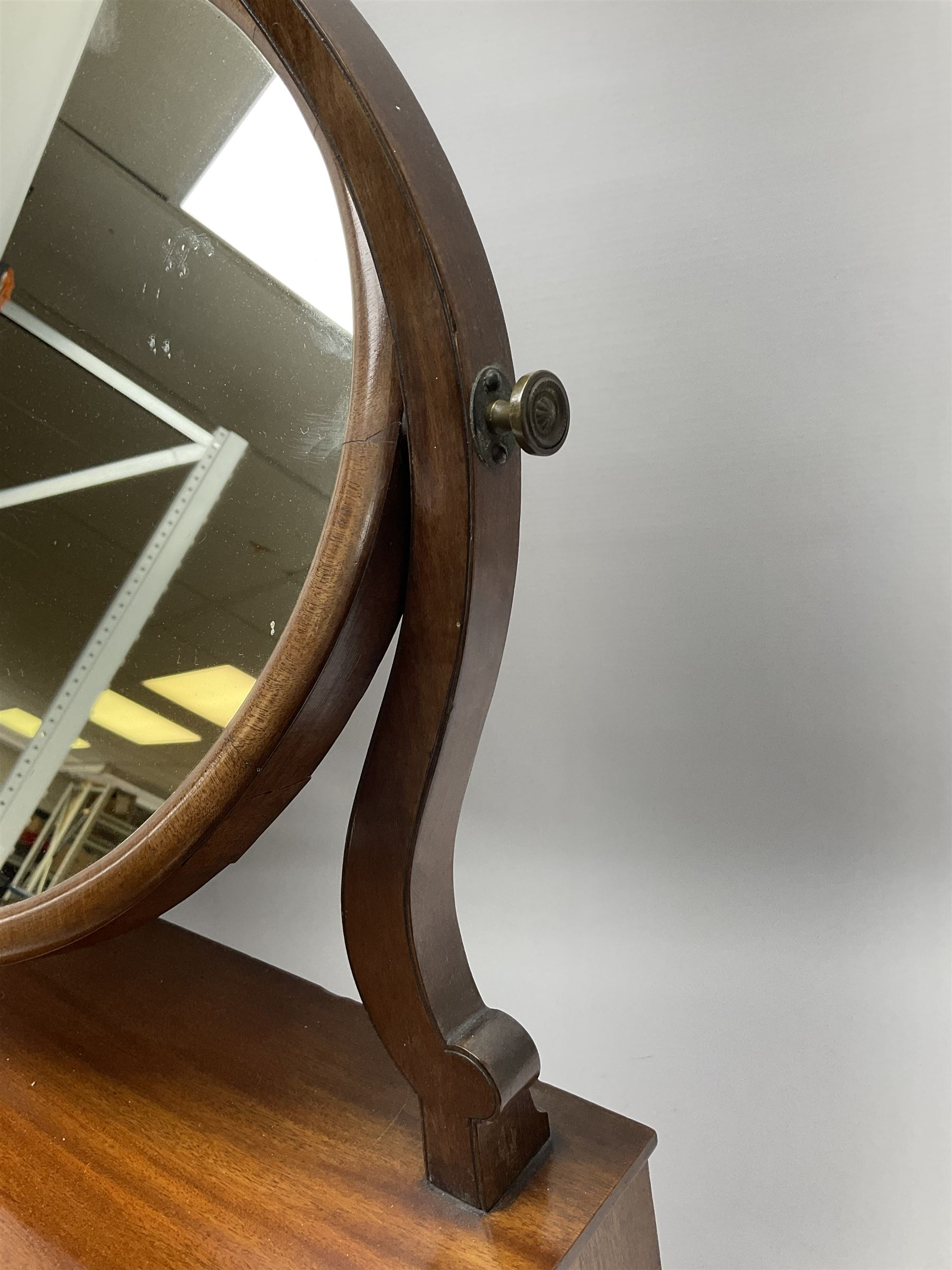 An early 20th century figured mahogany toilet mirror - Image 7 of 9