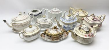A group of 19th century teapots