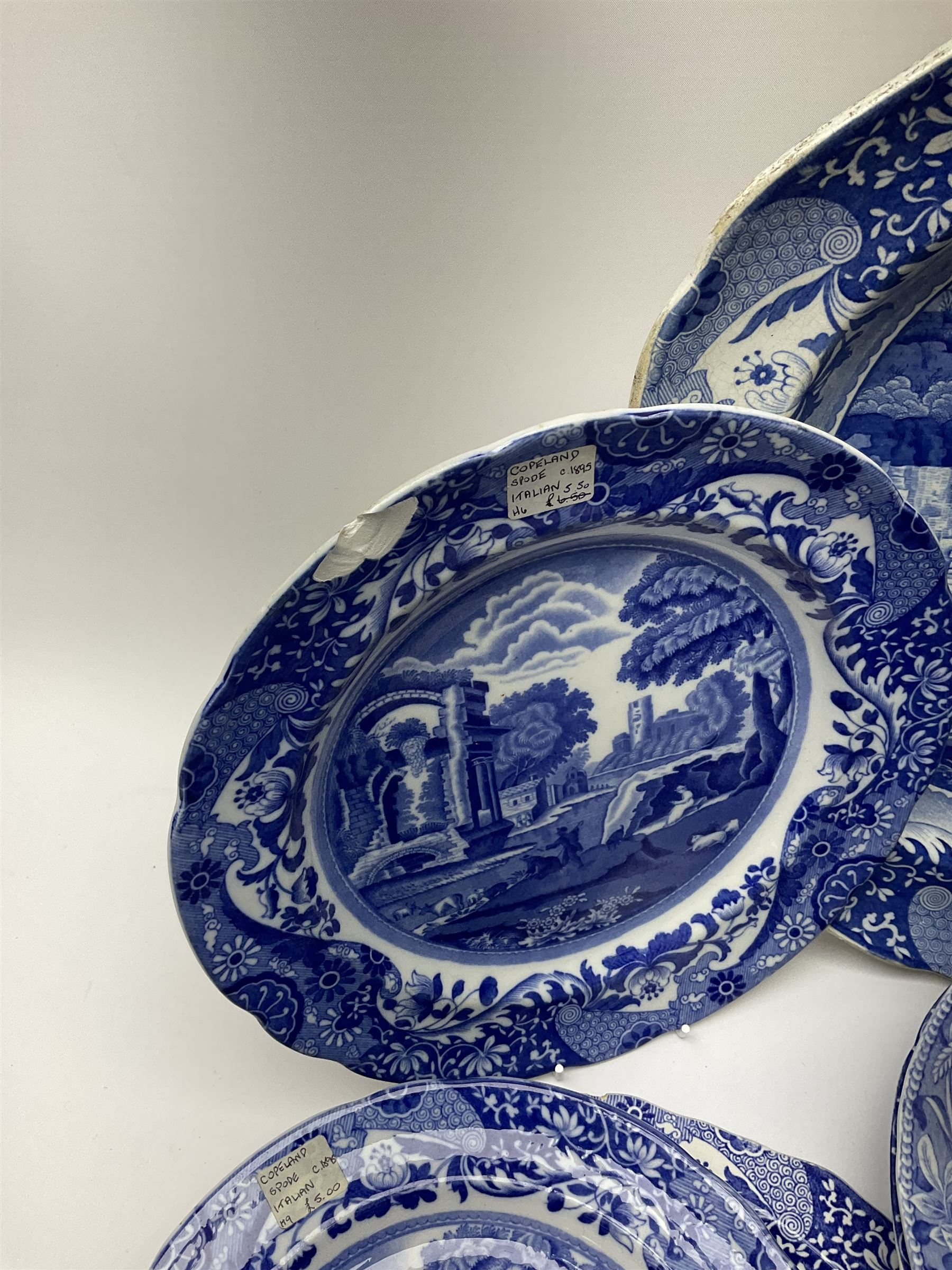 A group of 19th century Spode blue and white transfer printed pottery - Image 3 of 5