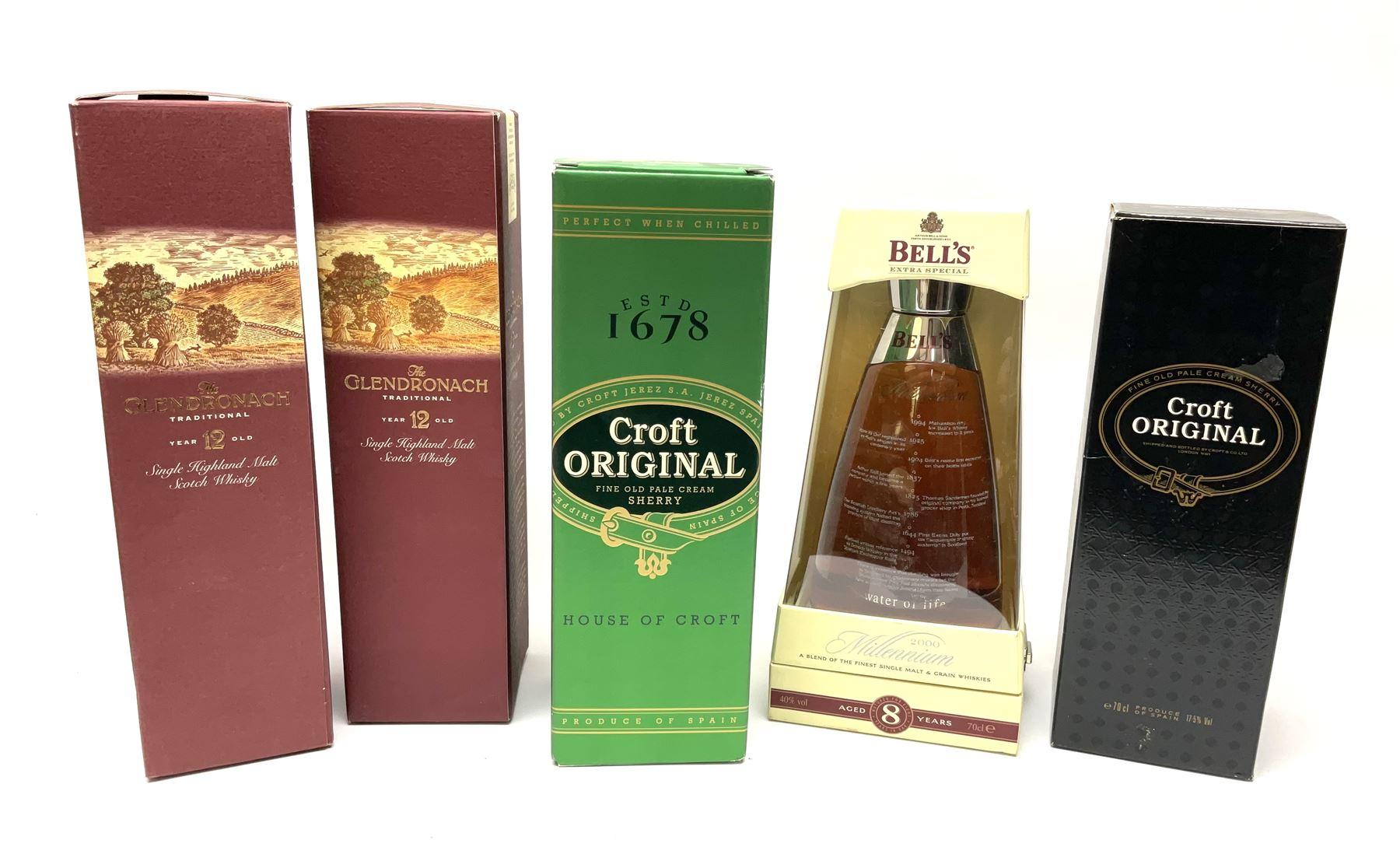 Bell's Millennium 2000 blended single malt and grain whisky aged 8 years