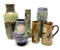 A group of Royal Doulton vases of various form and decoration