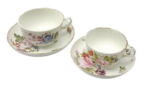 Oversized early 19th century Derby breakfast cup and saucer