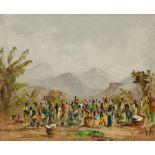 African School (20th century): Market Day