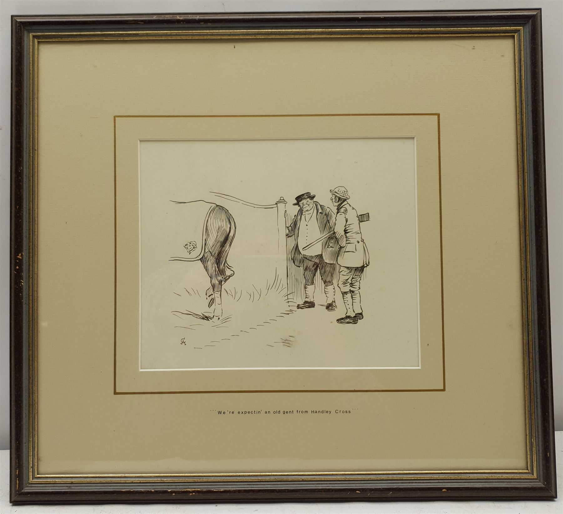 Cecil Aldin (British 1870-1935): 'We're Expectin' an Old Gent from Handley Cross' - Image 2 of 2