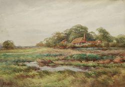 C Kipling (British 19th century): House on a Marsh