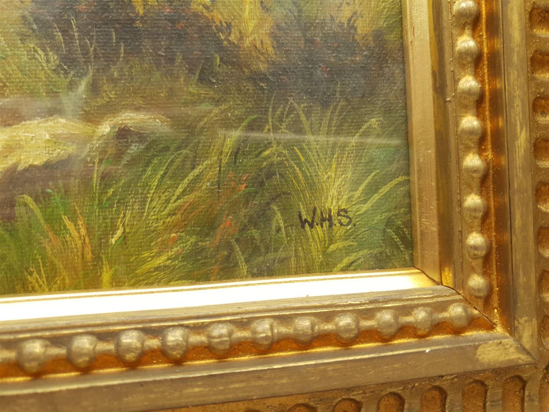 Attrib. William Hamilton Snape (British 1862-1904): Scottish Hunters Taking a Rest - Image 3 of 3