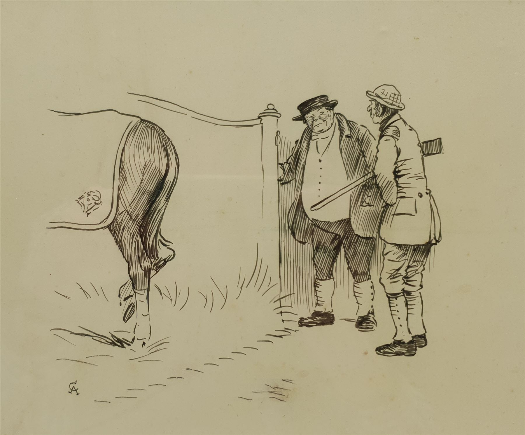 Cecil Aldin (British 1870-1935): 'We're Expectin' an Old Gent from Handley Cross'