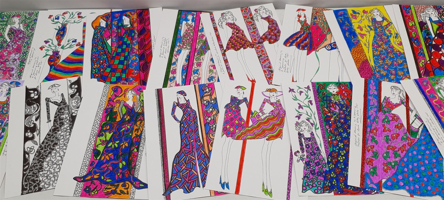 Roz Jennings (British Contemporary): Fashion Illustrations