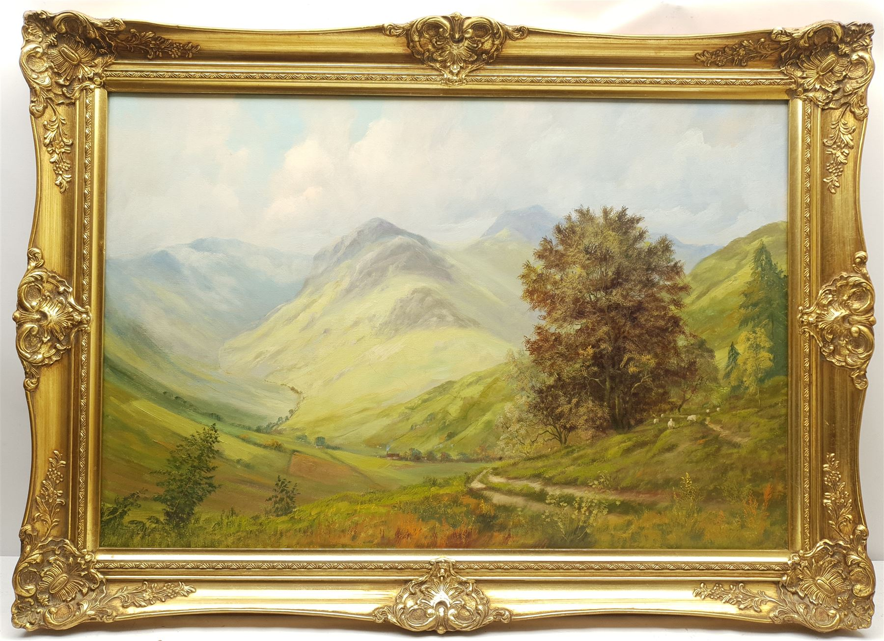 Jack R Mould (British 1925-1998): Mountain Valley - Image 2 of 2