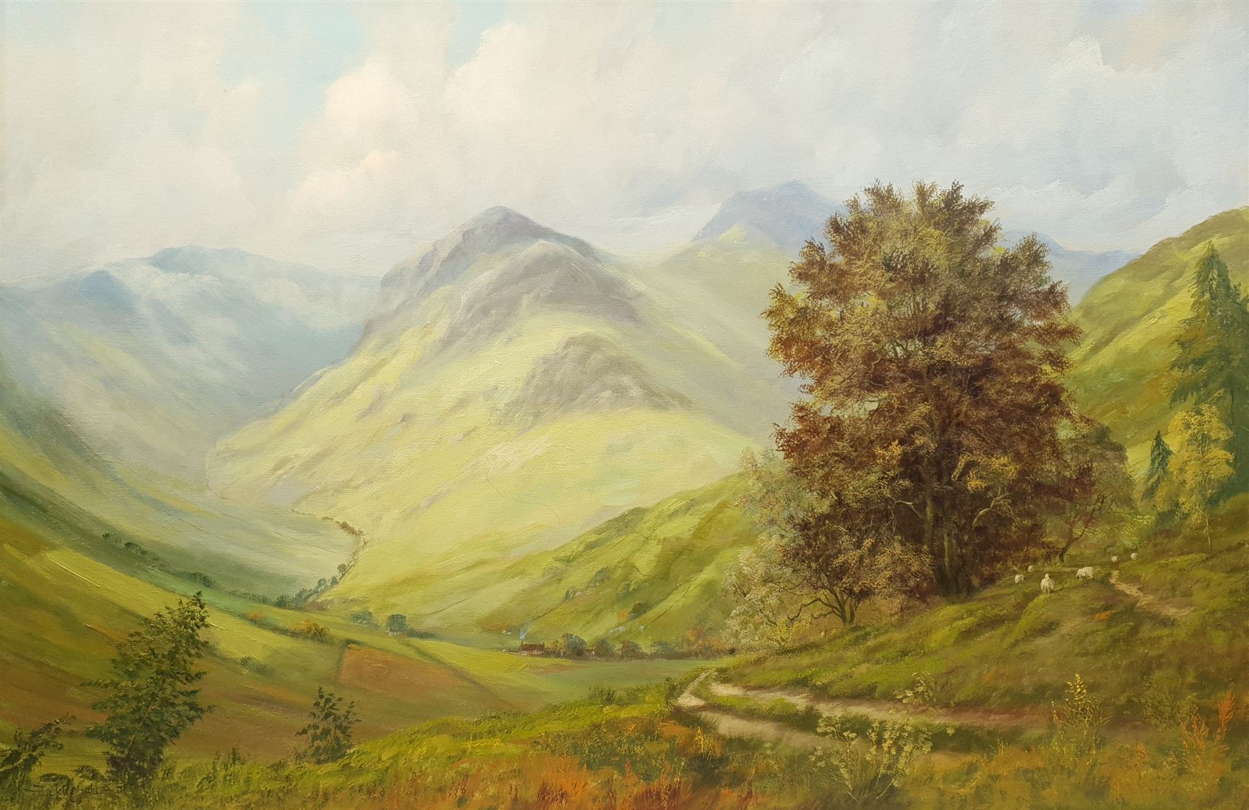 Jack R Mould (British 1925-1998): Mountain Valley