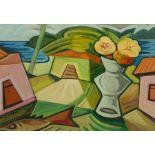 Nildo Martins (Brazilian 1948-): Casas con Flores
