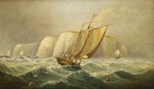 English School (19th century): Tacking Round a Headland