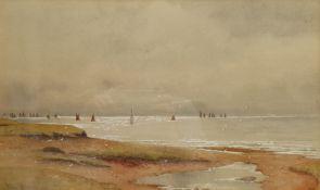 Walter Witham (British exh.1894-1896): Coastal Landscapes