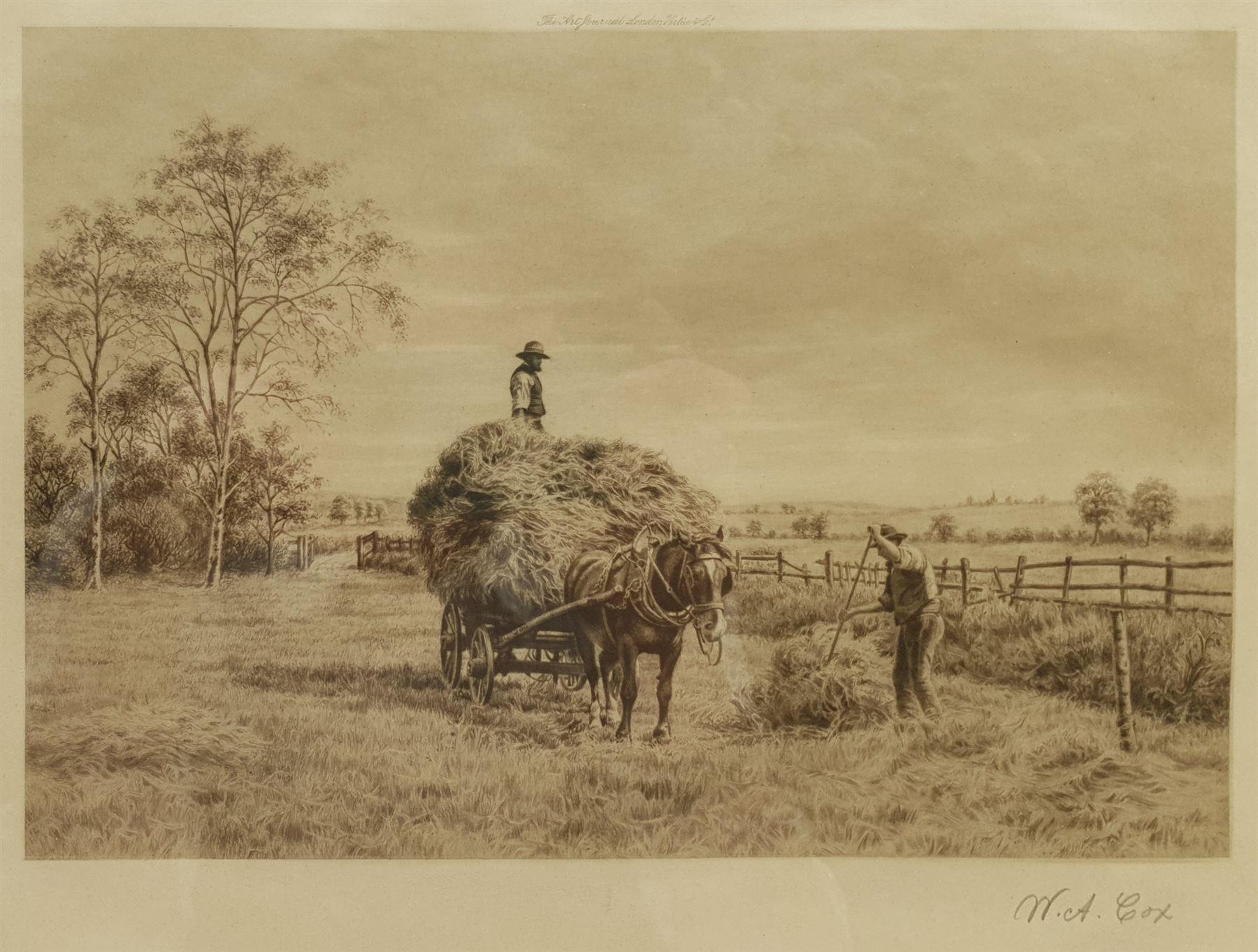 Walter Alfred Cox (British 1862-1908): Gathering the Hay