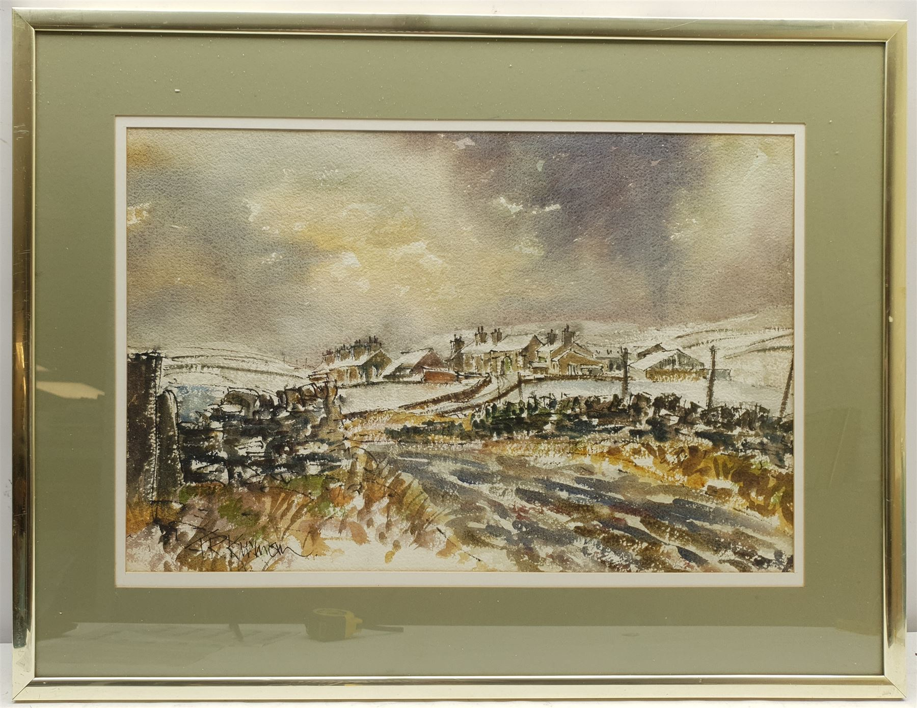 Terry Kirman (British 1939-1997): Yorkshire Dales Village in Winter - Image 2 of 2