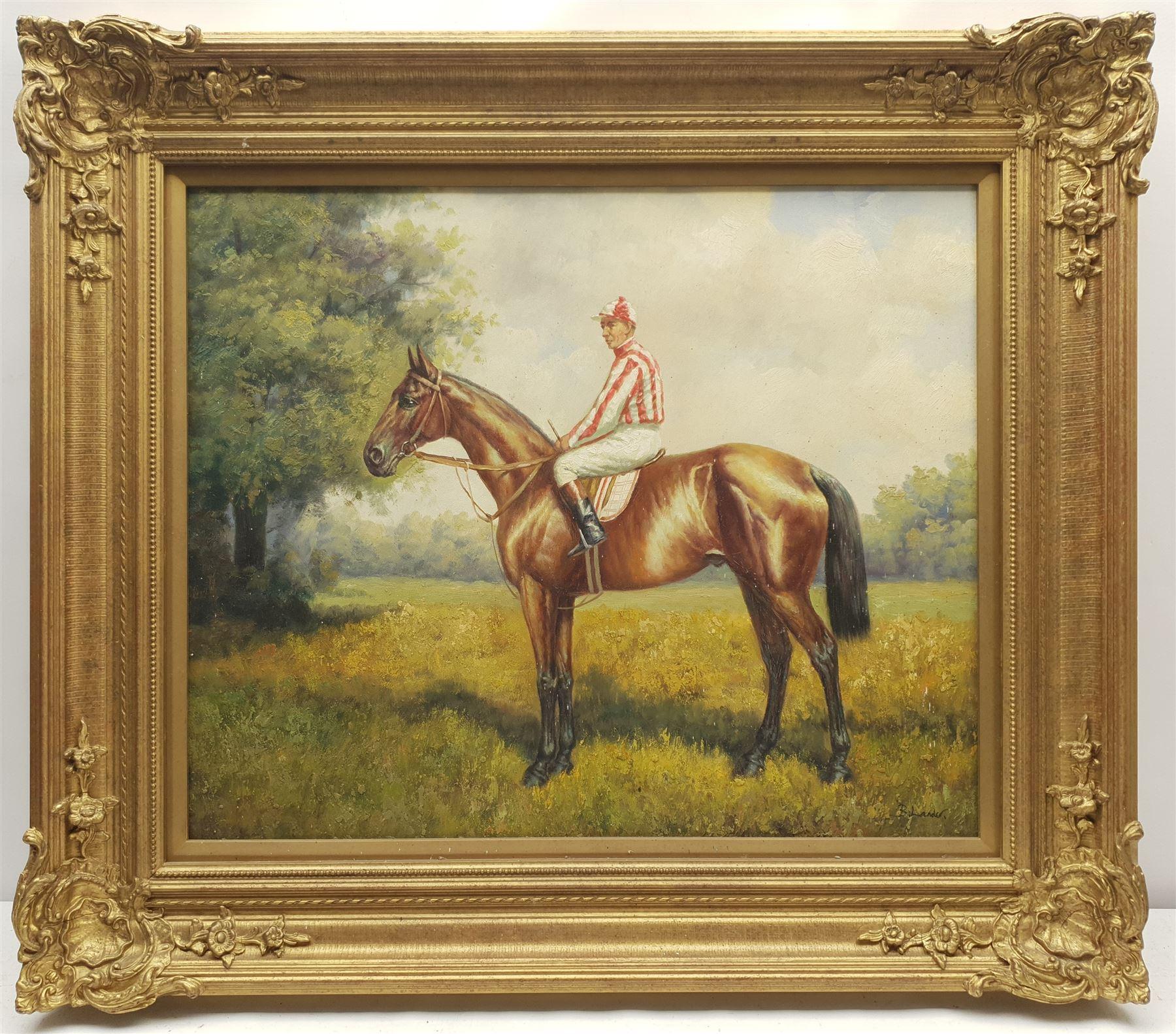 After Benjamin Lander (1842-1915): Mounted Jockey - Image 2 of 2
