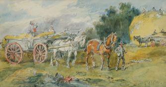 Harden Sidney Melville (British 1824-1894): 'Harvest Time'