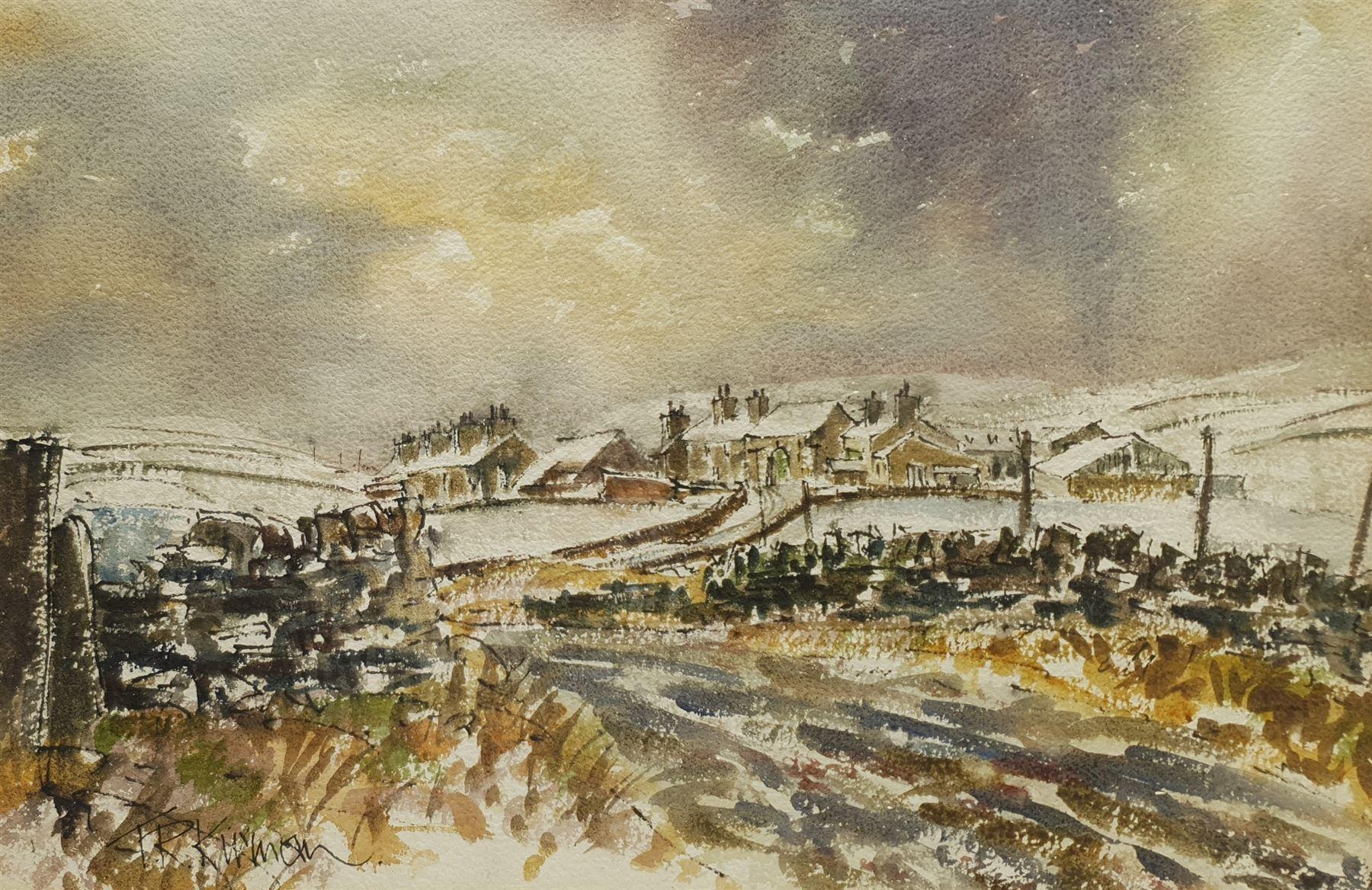 Terry Kirman (British 1939-1997): Yorkshire Dales Village in Winter