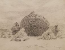 Camille Bourget (French 1861-1924): Haystacks