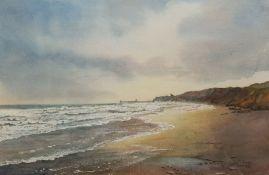 Chris Hammond (British 20th century): 'Sandsend Surf'
