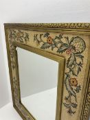 Classical painted and gilt framed wall mirror