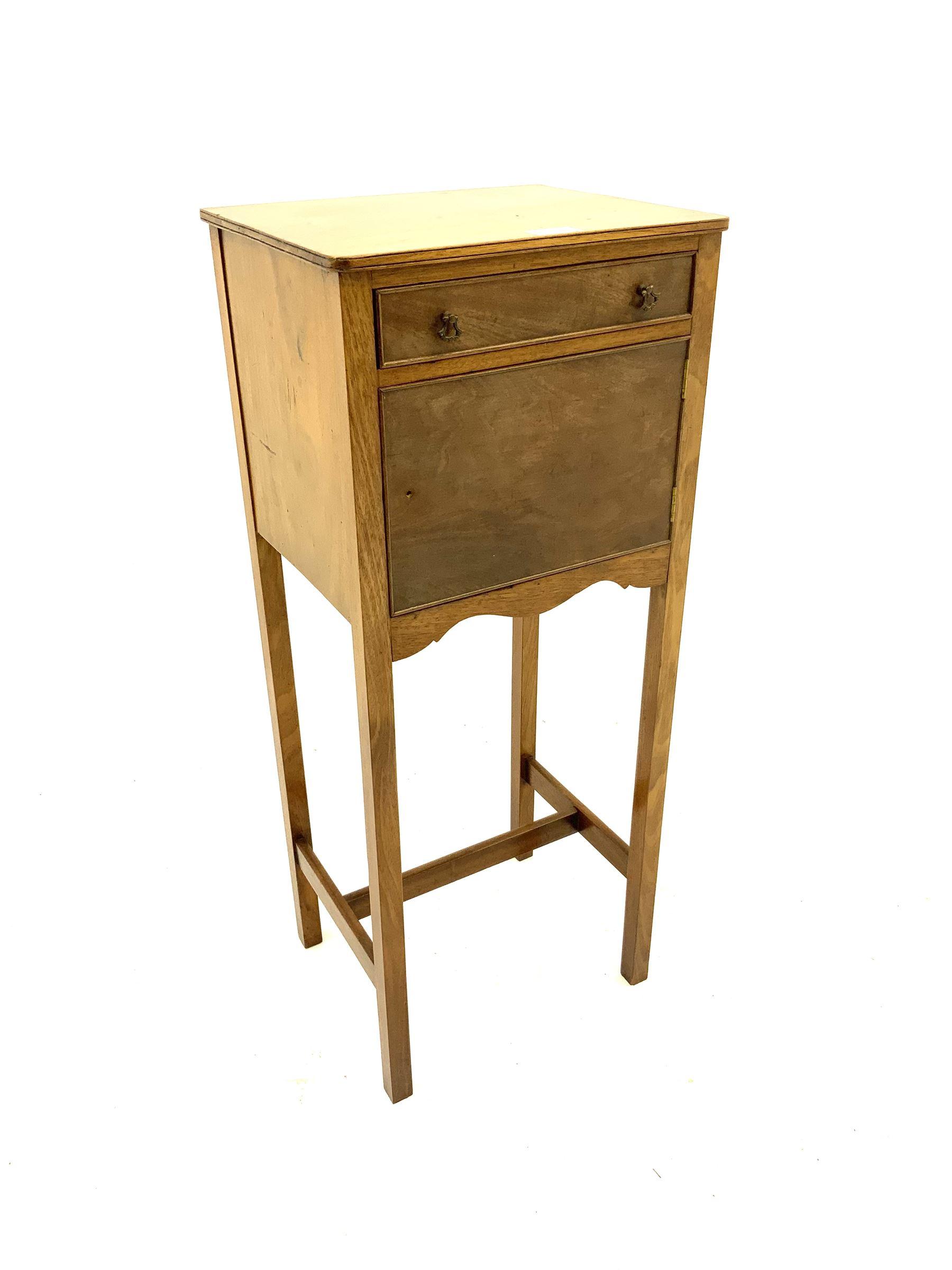 Early 20th century mahogany bedside pot cupboard