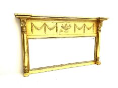 Regency style gilt overmantle mirror