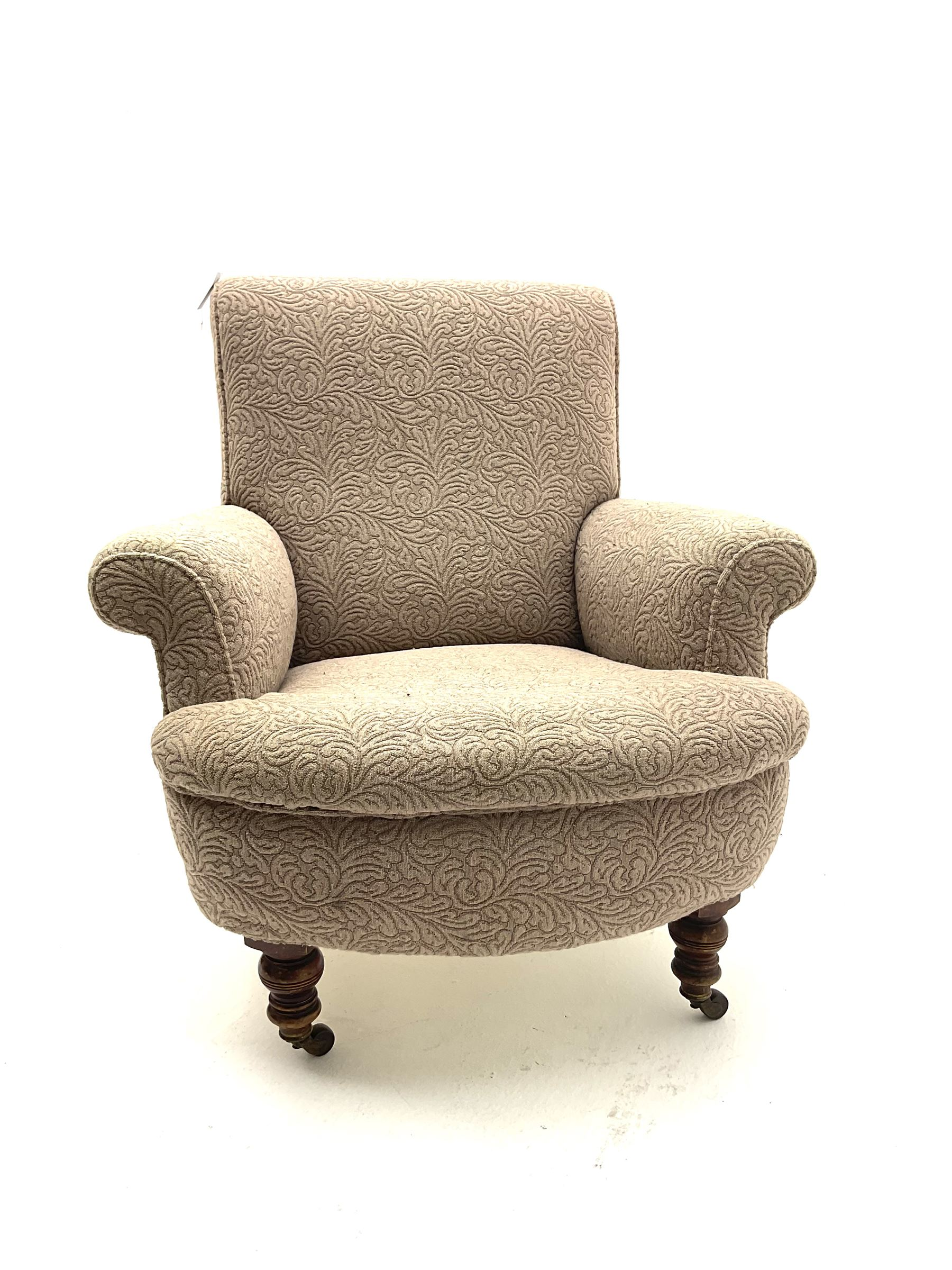 Late Victorian armchair - Image 2 of 2