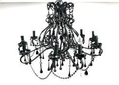 Classical black ten branch chandelier