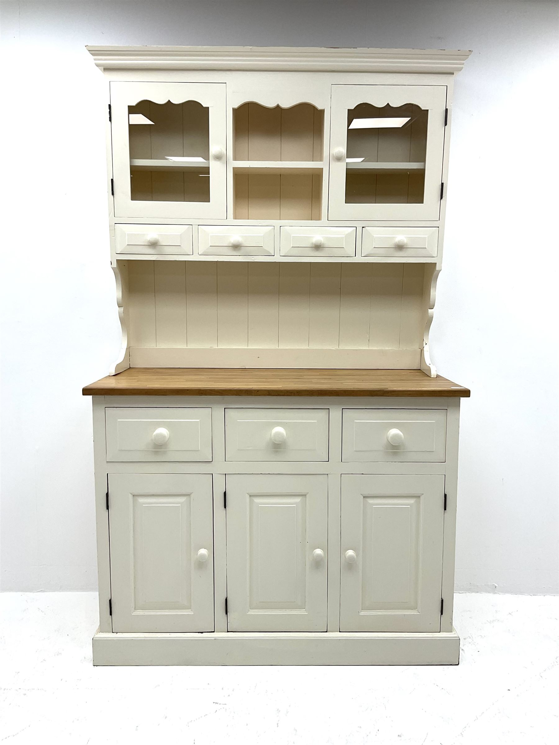Victorian style painted pine dresser