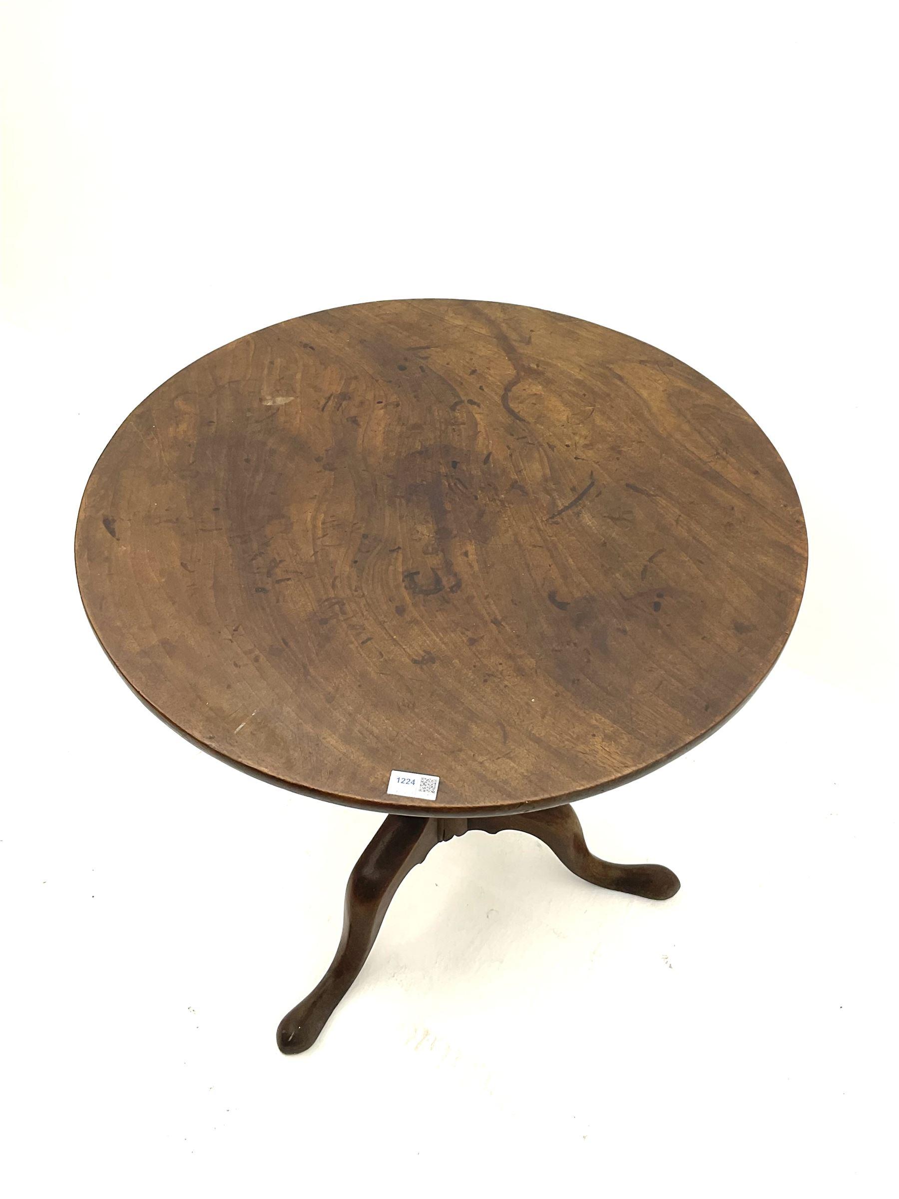 19th century mahogany tripod table - Image 2 of 3
