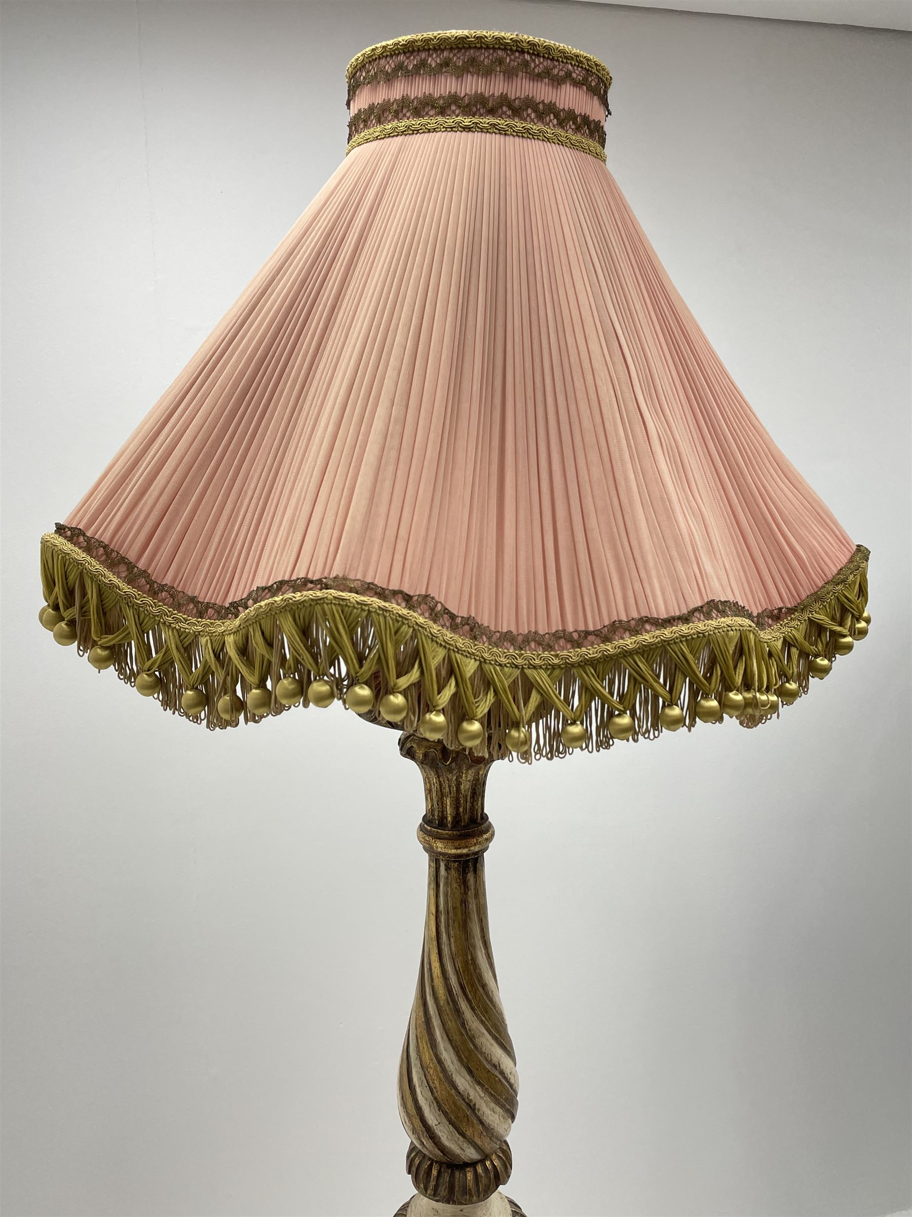 Late 20th century parcel gilt standard lamp - Image 2 of 5