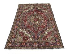 Persian red ground rug