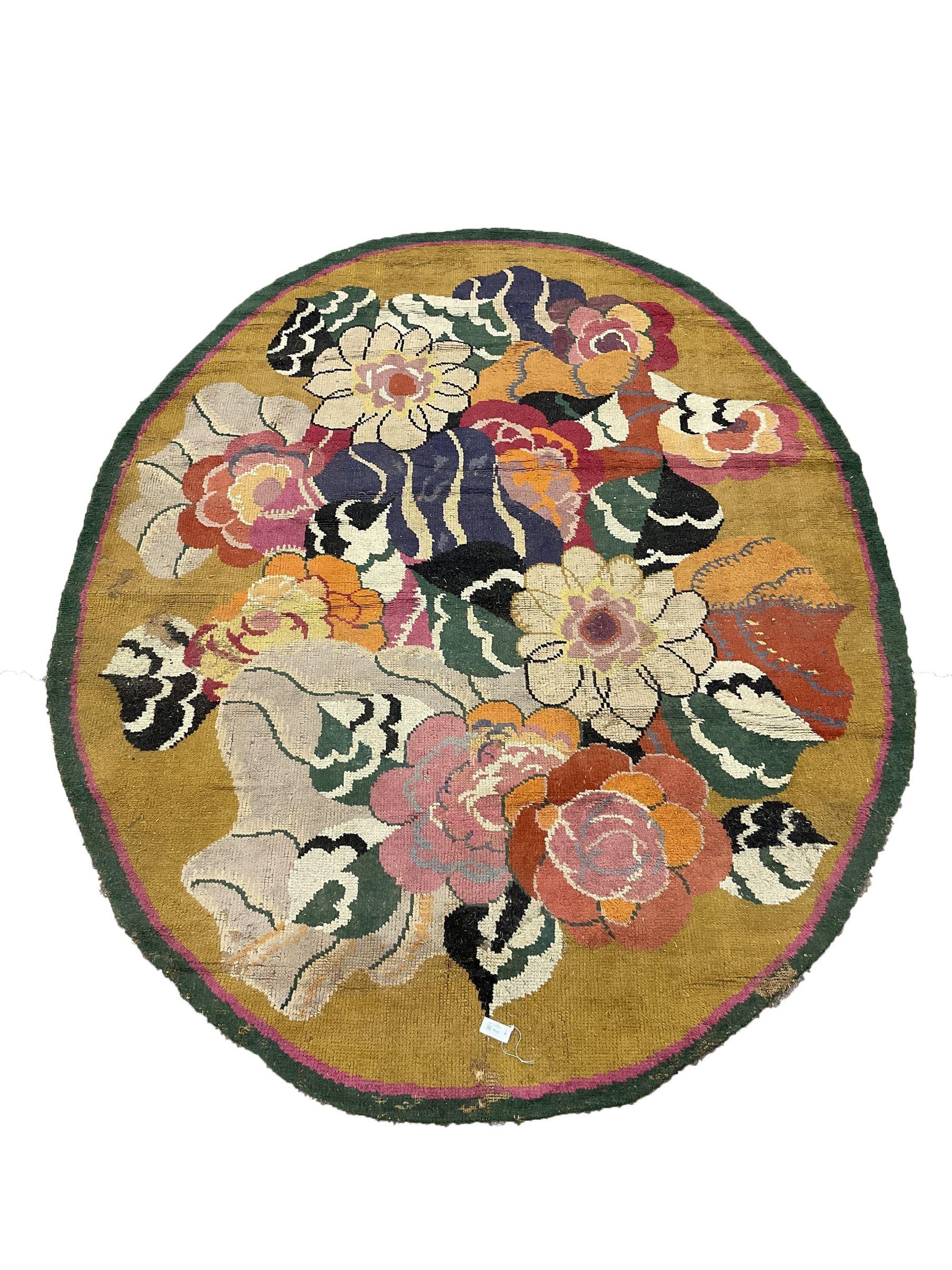 20th century wool oval rug