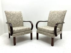 Pair of Parker Knoll easy chairs