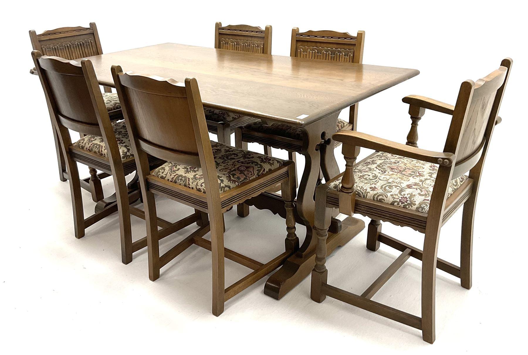 Old Charm - medium oak dining table