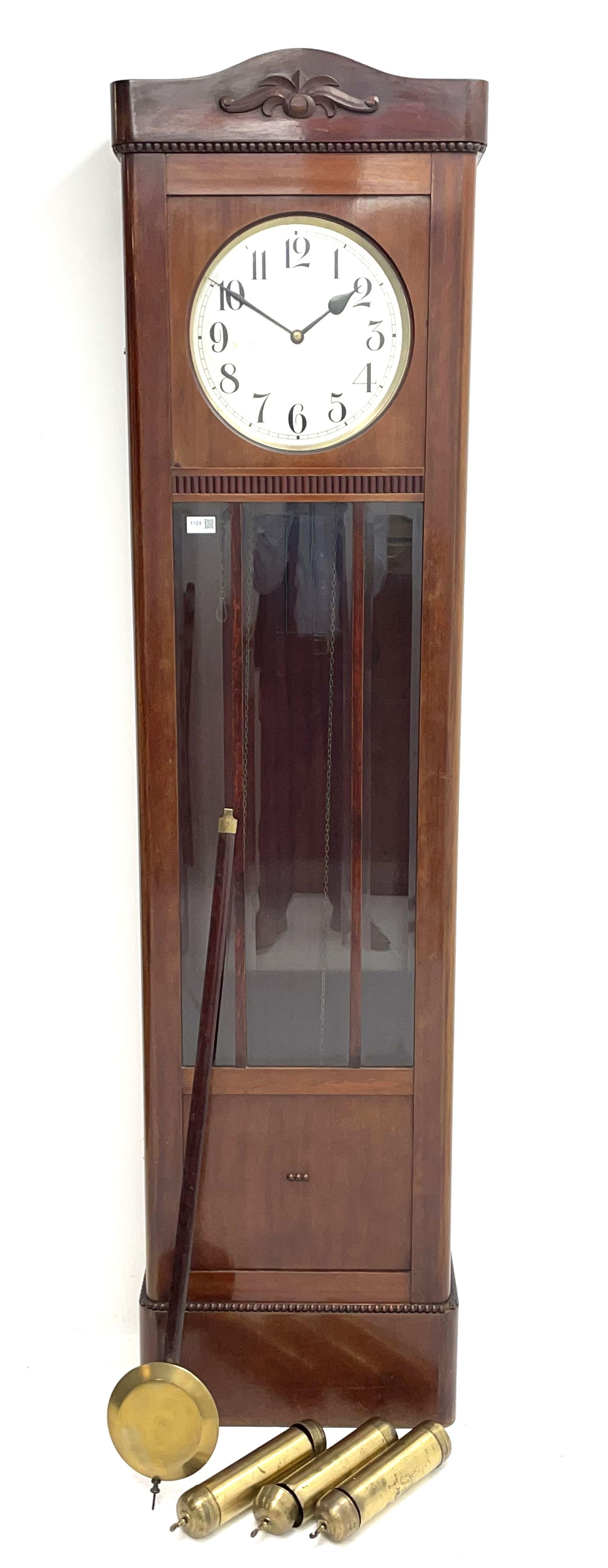 Early 20th century mahogany longcase clock