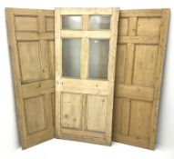 Three pine panelled doors