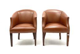 Pair tub chairs