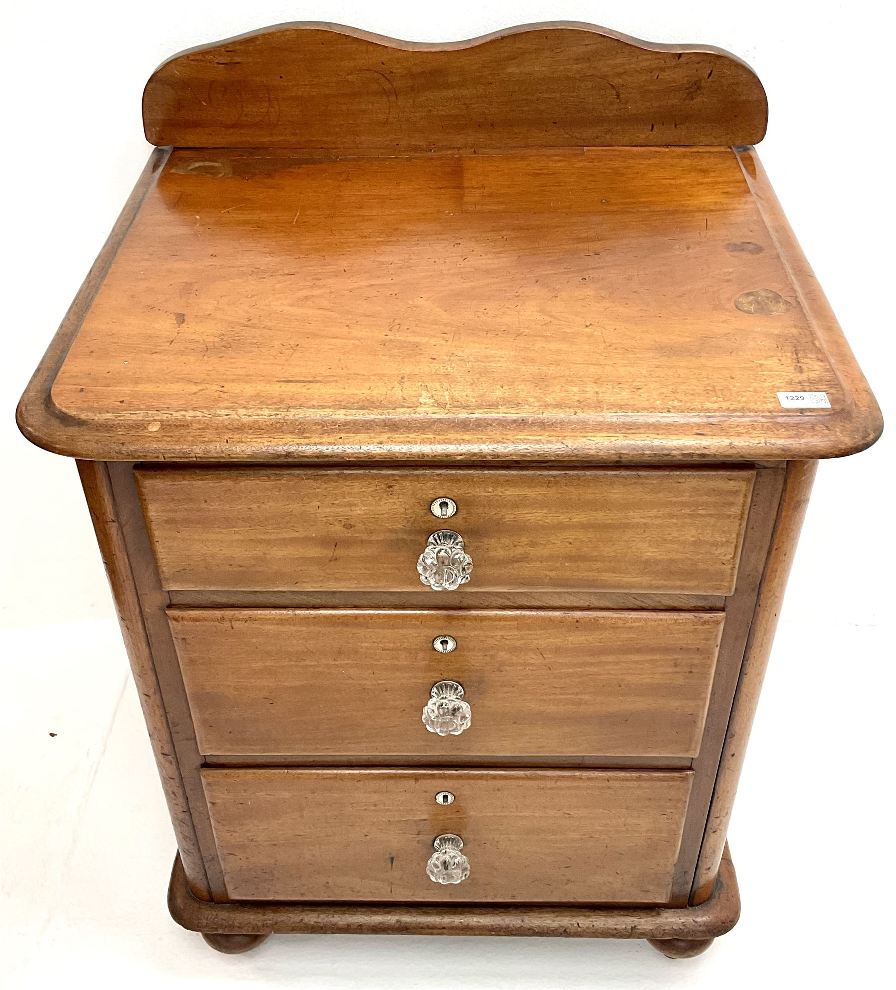 Victorian mahogany pedestal chest - Image 3 of 4