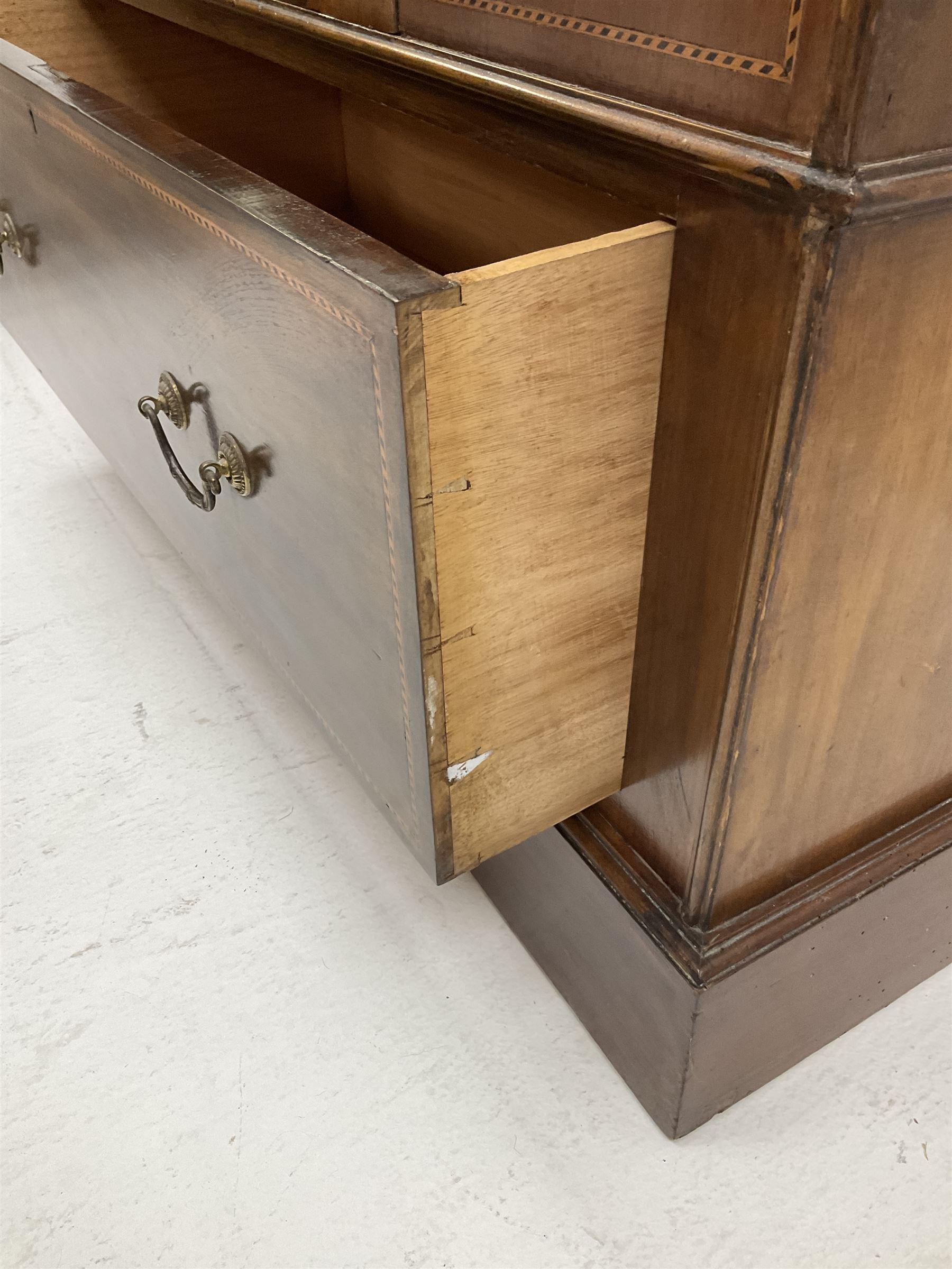 Edwardian inlaid mahogany wardrobe - Image 5 of 5