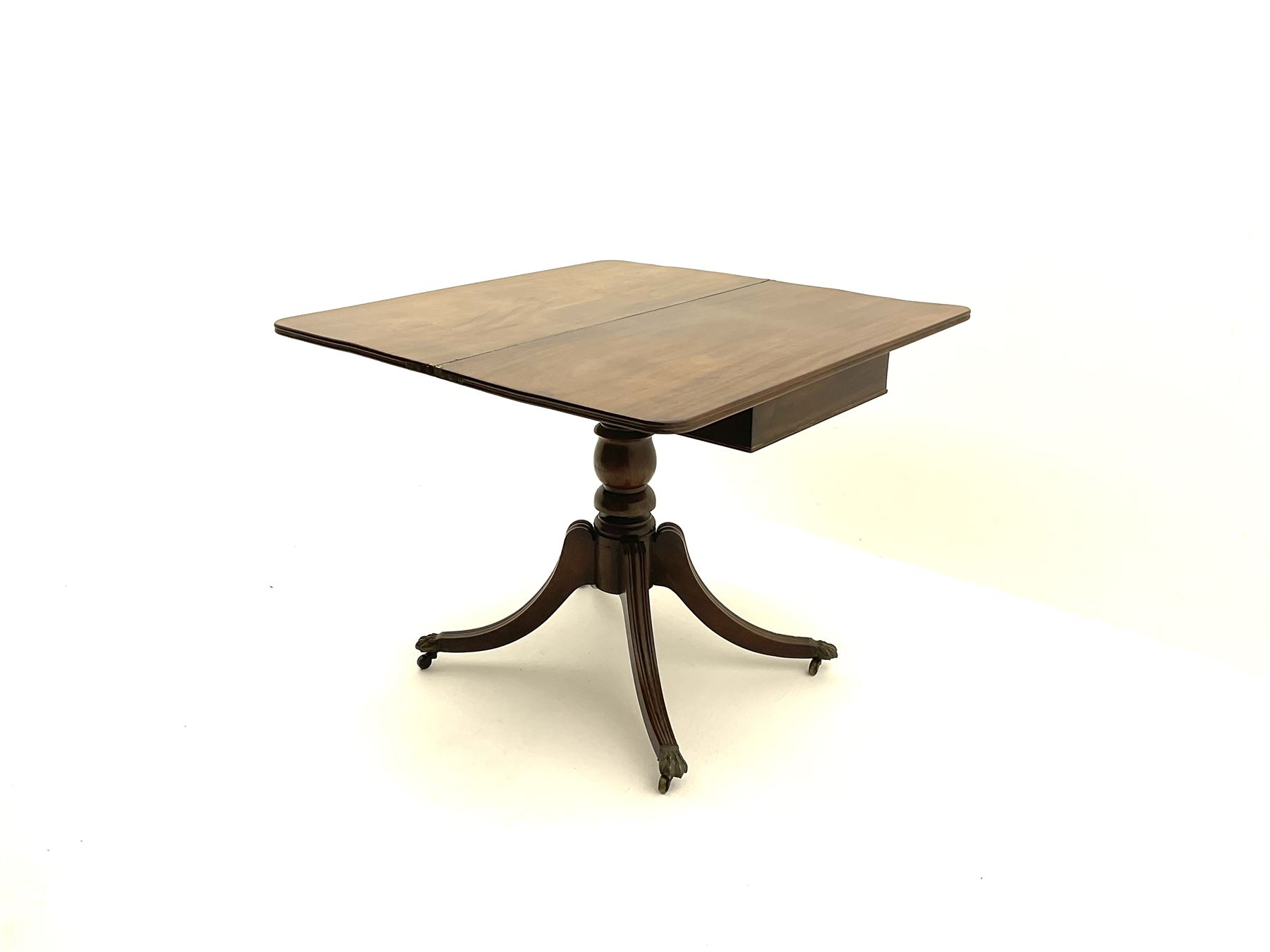 Regency mahogany pedestal table - Image 2 of 3