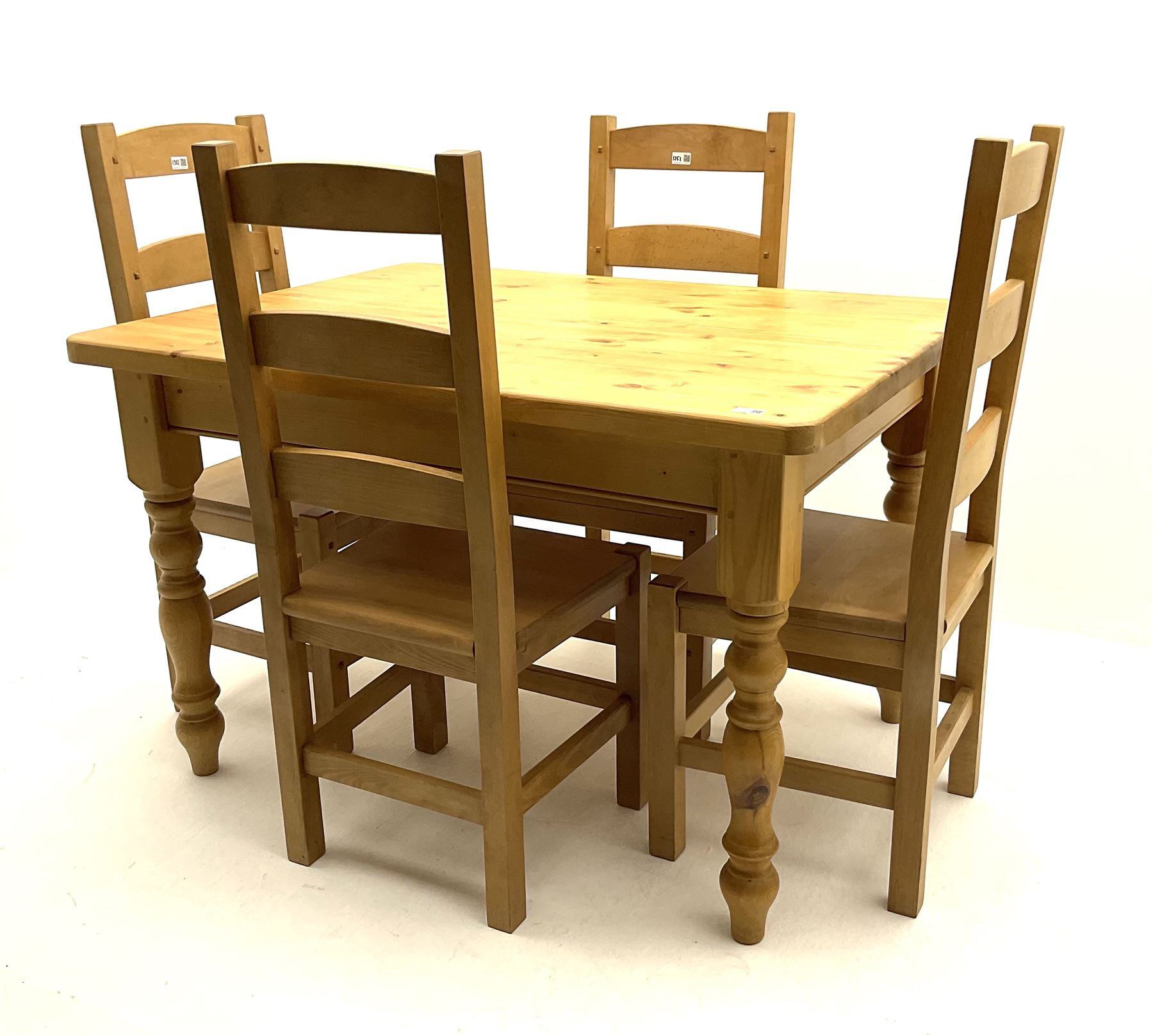 Rectangular pine farmhouse table