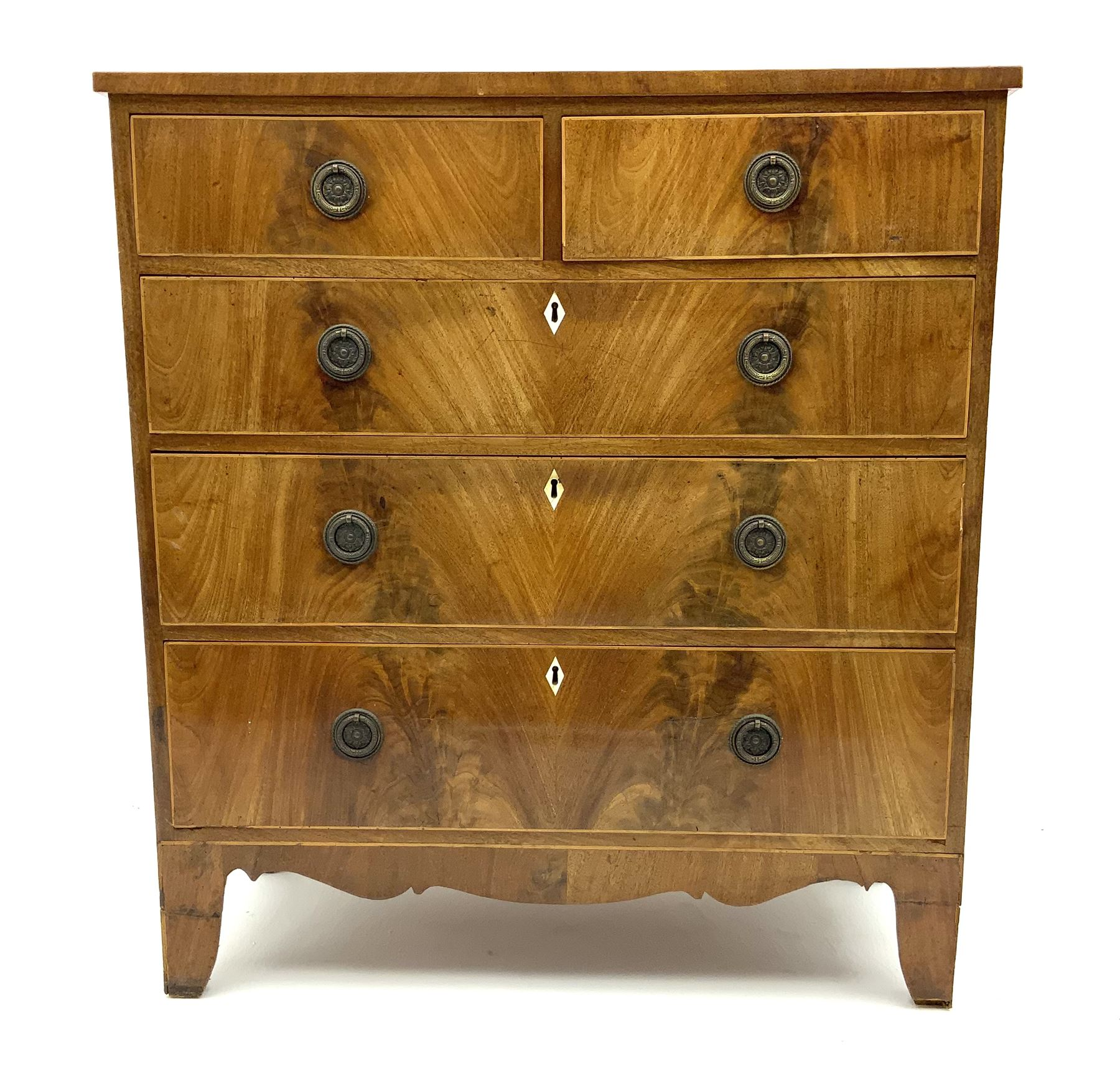 George III inlaid mahogany chest